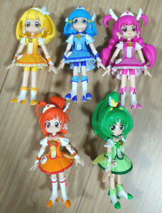 Glitter force Precure Figure Doll Toy 5 bodies Set Smile Pretty Cure BANDAI used