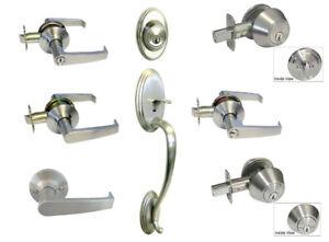 Satin Nickel door Handicap Friendly lever entry privacy passage deadbolt Brushed