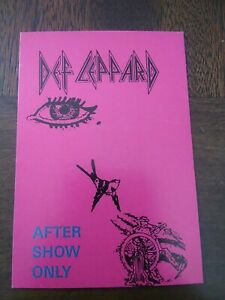 DEF LEPPARD TOUR BACKSTAGE PASS Groupie Pass OTTO Unlaminated Card