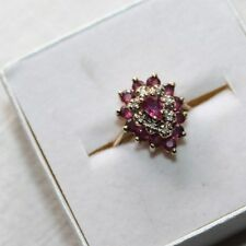 Ruby Cocktail Ring Set in 14K Yellow Gold