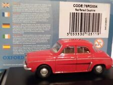Oxford Diecast 76RD004 RENAULT Dauphine in Red 1 76