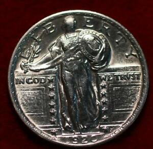 Uncirculated 1920 Philadelphia Mint Silver Standing Liberty Quarter