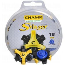 Champ Stinger Golf Spikes Fast Twist Thread 18 Pack Spikes White / Blue
