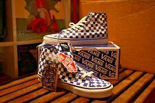 Limited Edition Noah X Vans Blue Checkered Sk8 Hi-Decon Deadstock