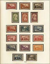 MONACO - N°119 à 134 - 17 Timbres Neufs avec charnière // 1933/37