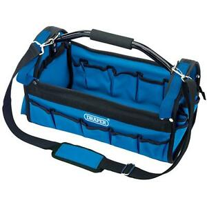Draper 26 Pocket Open Tote Tool Caddy Bag Carry Case With Heavy Duty Holdall