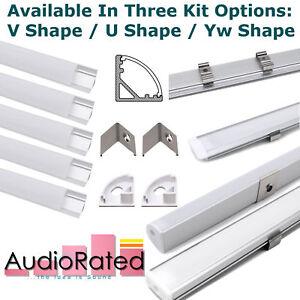 LED Strip Light Covers Aluminium Channel Profiles 6 Pack 1m / 3.3ft Kitchen Unit