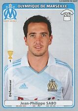 N°263 JEAN-PHILIPPE SABO OLYMPIQUE MARSEILLE OM STICKER  PANINI FOOT 2011-2012