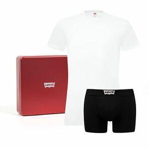 LEVI'S Herren 200SF Vintage Giftbox Geschenkbox 1 T-Shirt + 1 Boxer Gr. L