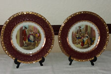 2 x Royal Falconware Weatherby Cries of London Cherries/PrimrosesDisplay Plates