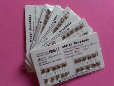 """NEW 50 sets Dental Bracket Brace Orthodontic Standard Roth Slot.022"""" 3 4 5 Hooks"""