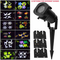 Outdoor LED Moving Snowflake Laser Light Projector Lamp For Xmas Party Decor