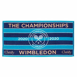 WIMBLEDON 2020 CHAMPIONSHIP TOWEL CLASSIC LADIES BLUE NEW IN BAG ✅FREE P&P