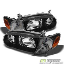 For Blk 2001-2002 Toyota Corolla Headlights+Corner Signal Lamps Left+Right 01-02