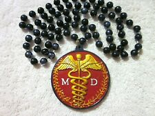 "Medical Doctor ""Md"" Mardi Gras Necklace Bead Caduceus Medic Doc Dr. (B618)"