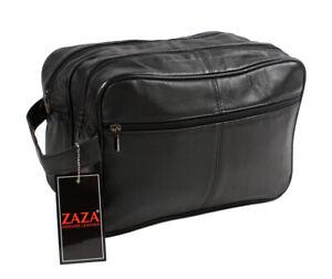 JUMBO Unisex - toilet bag extra large, washbag, Genuine Real Leather