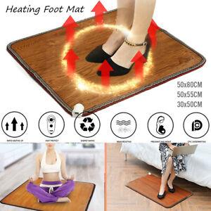 50x80cm 9 Speed Electric Foot Feet Warmer Heated Floor Carpet Pad Heating Mat