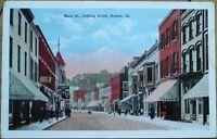 Galena, IL 1920 Postcard: Main Street/Downtown - Illinois Ill