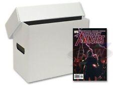 3 x short comic storage PLASTIC BOX.s. white finish.