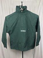 VTG American Eagle Mens Medium Large Green Anorak Pullover Windbreaker Jacket