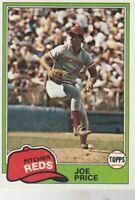 FREE SHIPPING-MINT-1981 Topps #258 Joe Price Reds