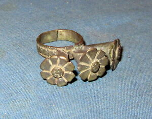 Ring Size 6 to 8 Vintage Afghan Kuchi Tribal Alpaca Silver