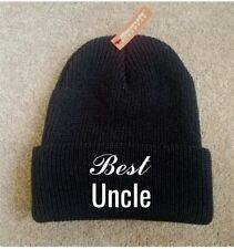 Printed Beanie BEST UNCLE Hat Funny Fashion Cool Cap Knit Caps New Gift