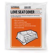 "UHaul Brand Love Seat Loveseat Cover 42"" Wide & 94"" Long Clear Heavy Grade PET"