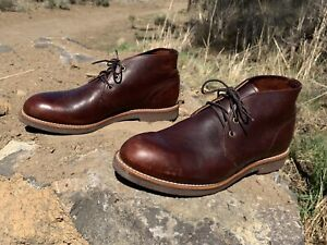 Red Wing Shoes Foreman Chukka Heritage Boots 10.5 D Briar Oil Slick Leather Work