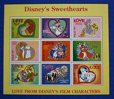 Palau (#393) 1996 Disney's Sweethearts MNH sheet