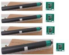 4 Xerox DocuColor 240 250 260 7655 7755 OPC DRUM + 4 Drum Chip  K-C-Y-M