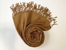 Fashion Women's Silk Style Solid Long Pashmina Shawl Wrap Scarf cashmere