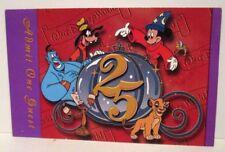WALT DISNEY WORLD EXPIRED ADMISSION PASS 25TH ANNIVERSARY PARK HOPPER 1997 RED