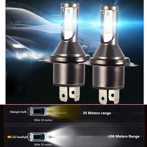 2Pcs H4 Car LED Headlight Headlamp 26000LM 6000K 110W Kit Conversion Bright Beam