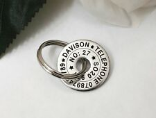 Cool Small Pet Dog ID Disc Tag Tags- Stainless steel polo washer FREE ENGRAVING