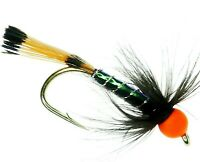12 or 14 UK ARC Fishing Flies Trout Fly Fishing Flies for sale UK STING GLOW TAIL HARES EAR HOT HEAD X 3 FLIES in Hook sizes 10
