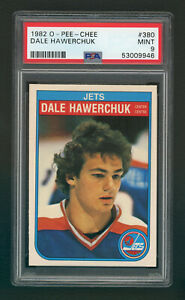 1982-83 O-Pee-Chee DALE HAWERCHUK Rookie  #380  HOF  OPC  -  Graded PSA 9