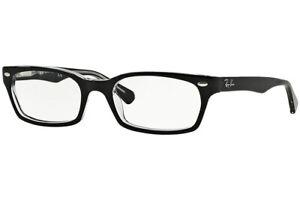 New Authentic Ray Ban RB5150 2034 Black Rectangle Full Rim Eyeglasses 50-19-135
