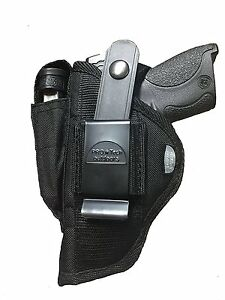 """Ruger 1911 With 4.25"""" Barrel hip holster With Magazine Pouch"""