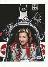 ASHLEY FORCE HAND SIGNED COLOR NHRA 8X10 PSA COA AA33128