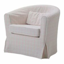 IKEA Ektorp TULLSTA Armchair COVER Pink Beige Green Plaid Check Chair SLIPCOVER