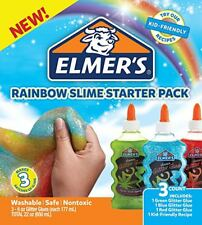 Elmer's Rainbow Slime Starter Kit with Green, Blue and Red Glitter Glue, 6 Ounce