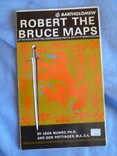 Robert The Bruce Maps Munro and Pottinger Bartholomew Vintage Map Scotland