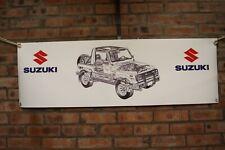 SUZUKI Samurai heavy duty  large pvc  WORK SHOP BANNER garage