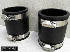 "2 X 50mm o 2"" Fernco tipo Flex Seal acoplador de goma con clips de Jubileo Universal"