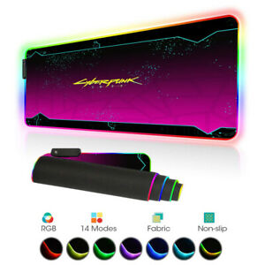 Cyberpunk 2077 Gaming Mouse Pad Gamer LED RGB Large XXXL Horizontal Mouse Mat PC