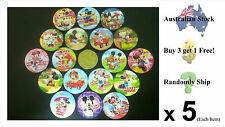Cartoon Pin Badges!(Mickey Mouse,Angry Birds,Plants vs Zombies,Smurfs,SpongeBob)