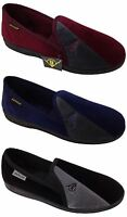 Mens Dunlop Full Comfy Slippers Slip On Navy Blue Grey Black Sizes UK 6-13