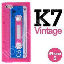 Coque étui IPHONE 5 Neuve en silicone RETRO cassette K7 - PROMO