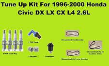 1996-2000 Honda Civic LX DX CX Tune Up Kit: Serpentine Belt, Spark Plug, PCV Fil
